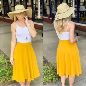 Infinity Raine Skirts - Mustard midi skirt